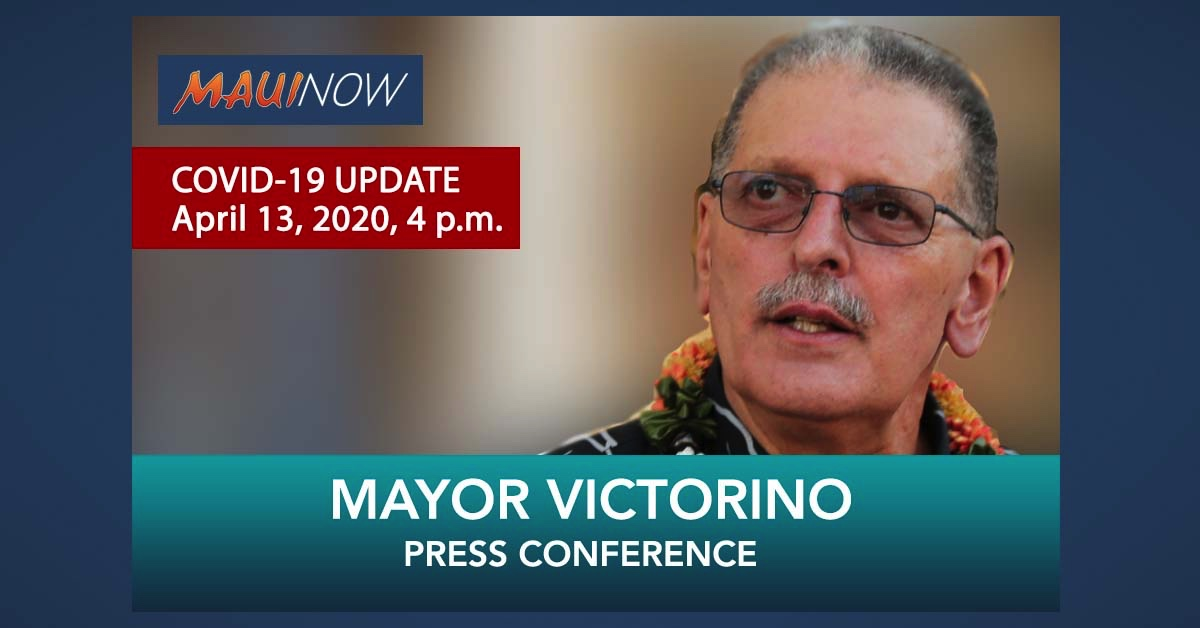 LIVE STREAM: Mayor Victorino COVID-19 Update: Maui Hospital Cluster Grows to 34 Positive