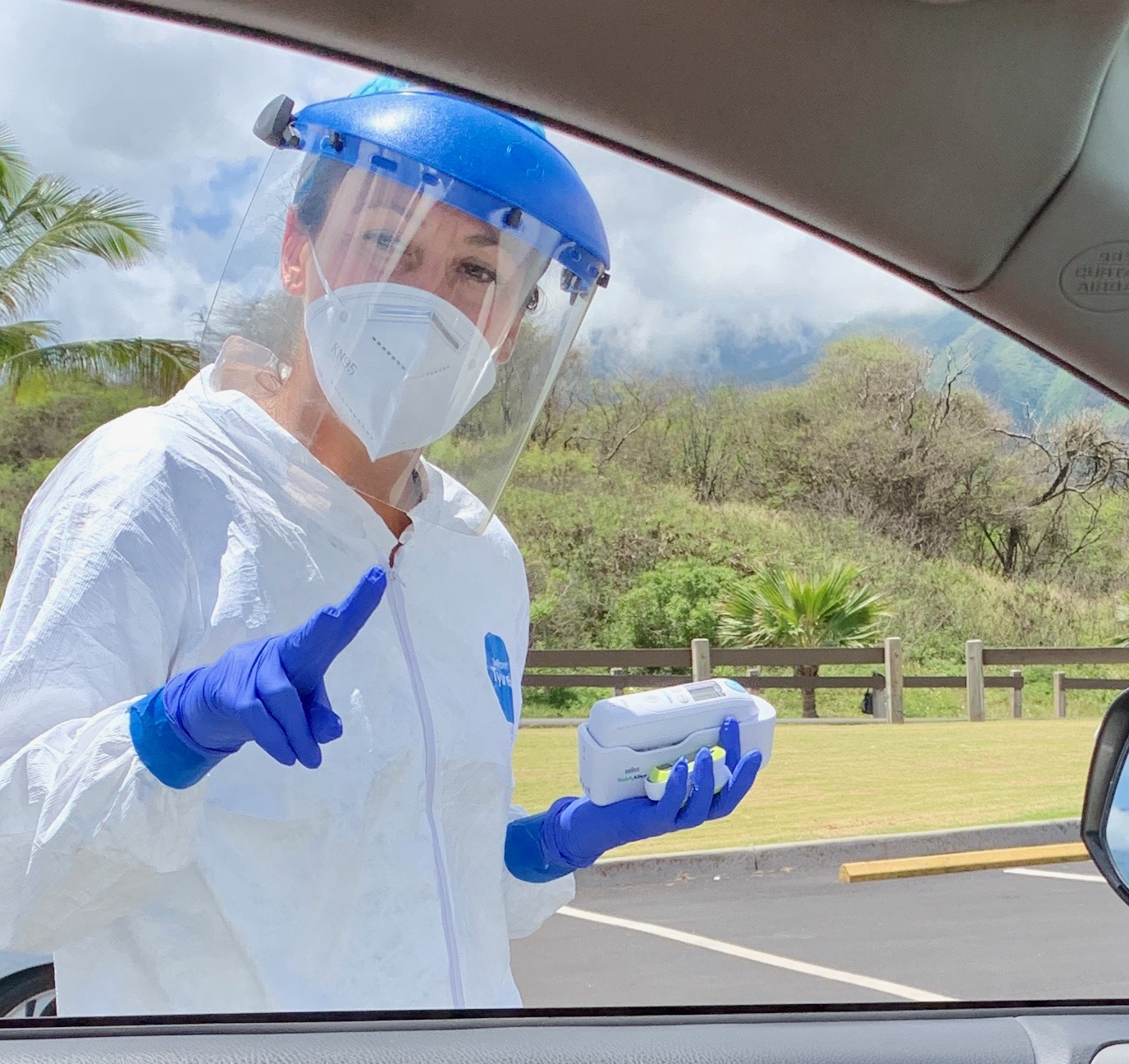 Drive-Through COVID-19 Testing in Kahului on Thursday, April 23
