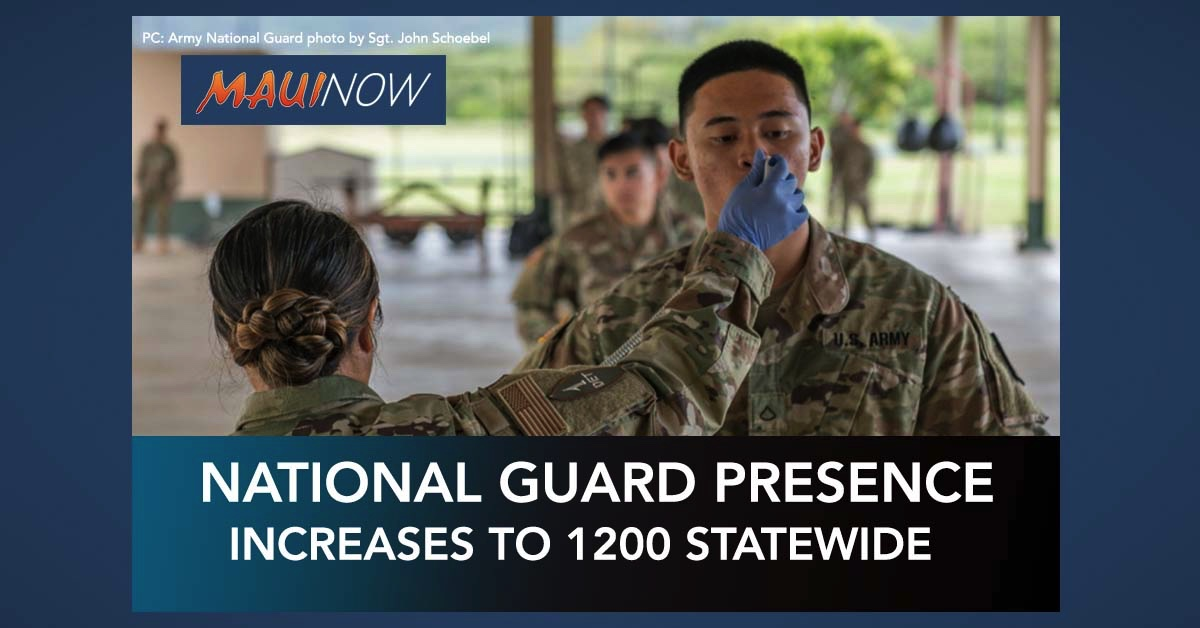 Hawai'i National Guard Increasing Personnel to 1,200 for COVID-19 Response