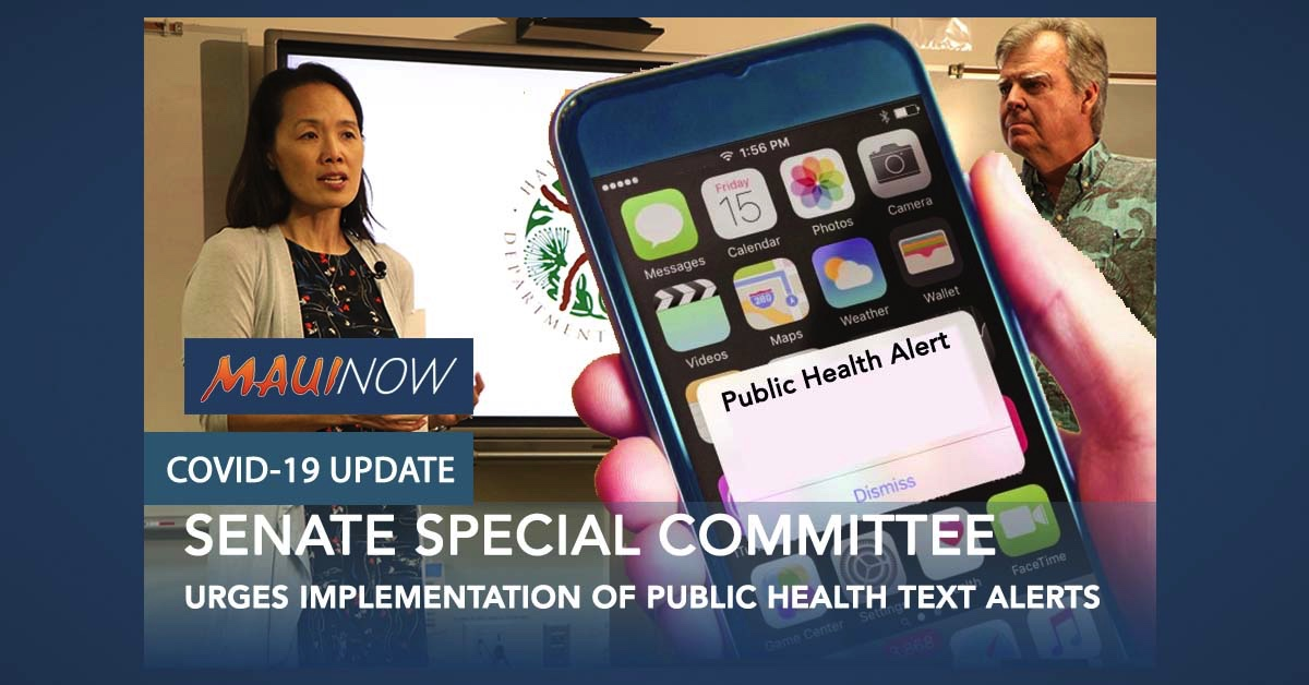 Hawai'i Senate Special Committee on COVID-19 Urges Implementation of Public Health Text Alerts