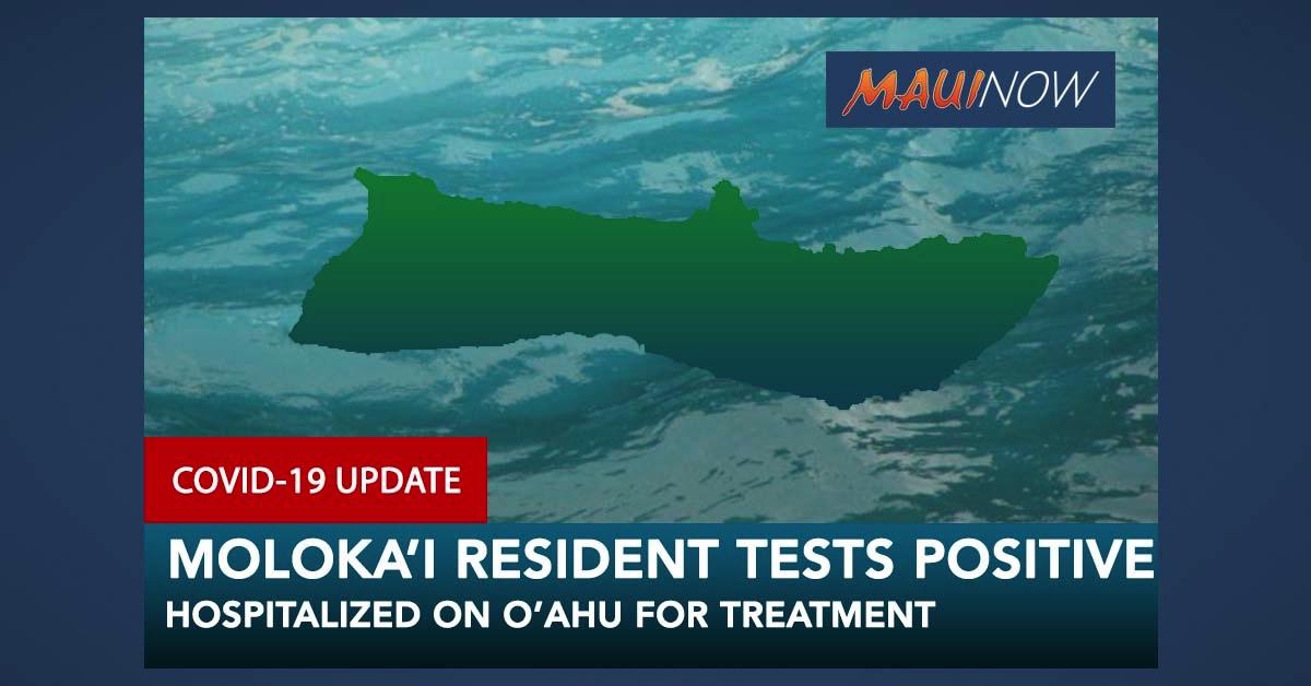 Moloka'i Resident Hospitalized on O'ahu with COVID-19