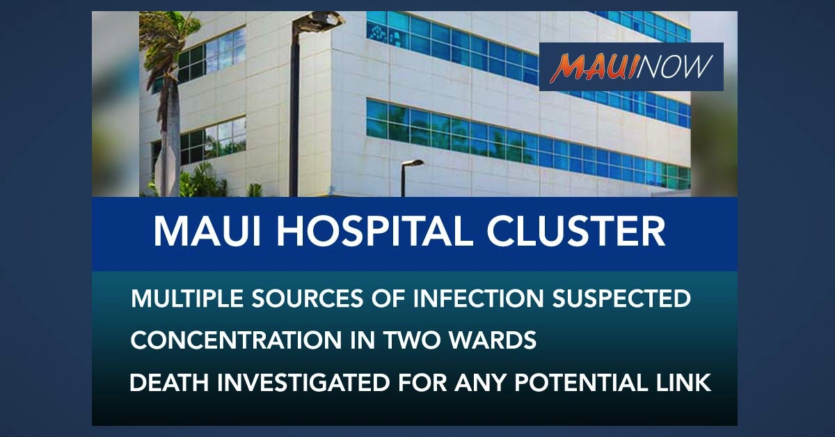 Maui COVID-19 Hospital Cluster: Multiple Sources of Infection Suspected
