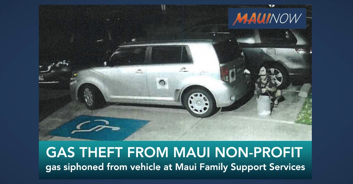 Gas Theft Reported at Maui Nonprofit in Wailuku