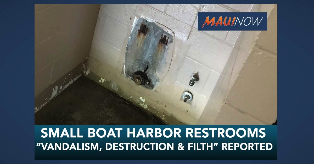 """Vandalism, Destruction and Filth"" at Small Boat Harbor Restrooms Since Reopening Last Week"