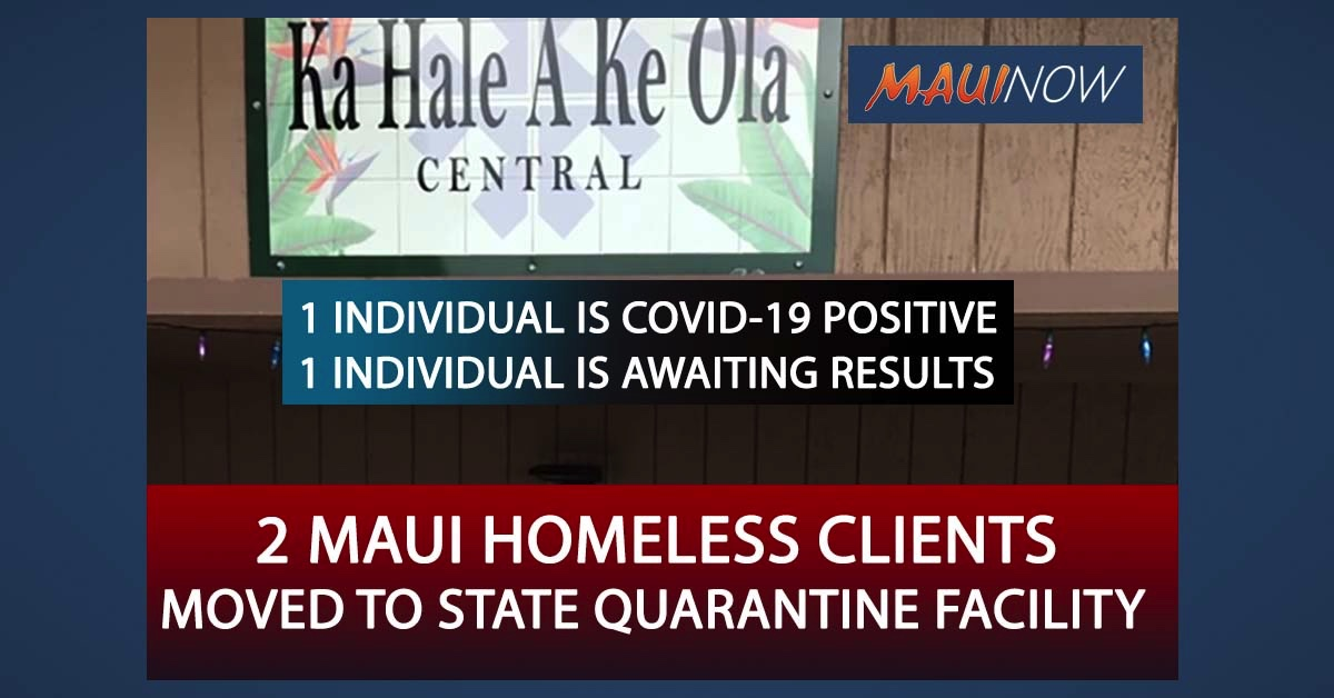 BREAKING: 2 Homeless Individuals from  Ka Hale A Ke Ola  Moved to Quarantine, One is COVID-19 Positive