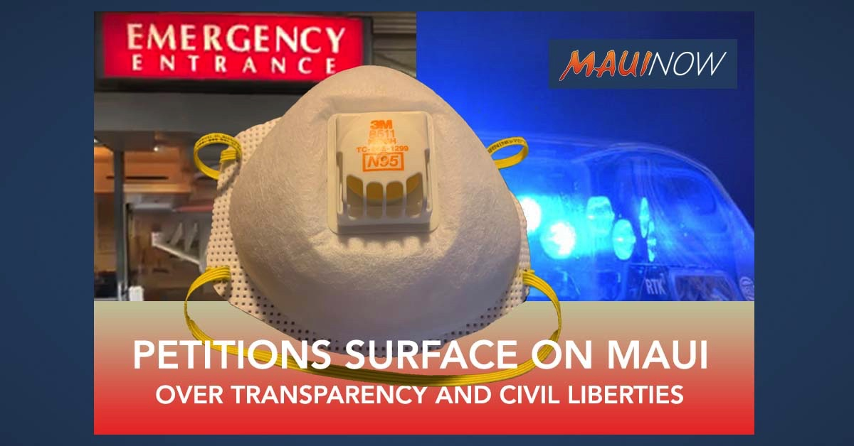Petitions on Maui Claim Lack of Transparency, Undermined Civil Liberties Amid COVID-19 Response