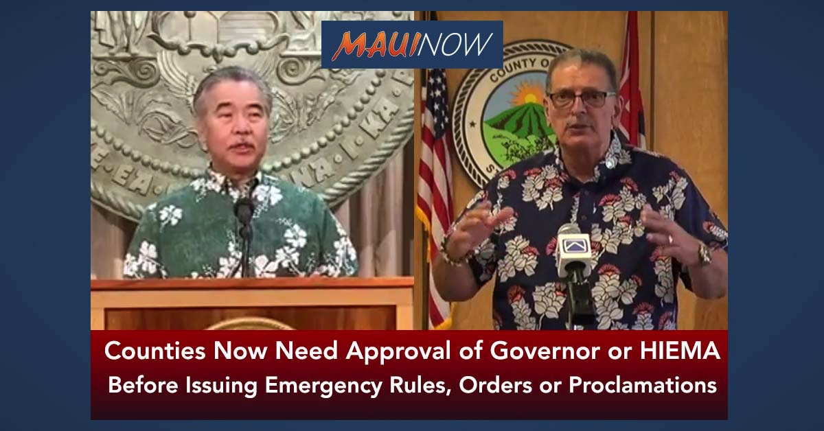 Counties Now Need Approval of Governor or HIEMA Before Issuing Emergency Rules, Order or Proclamations