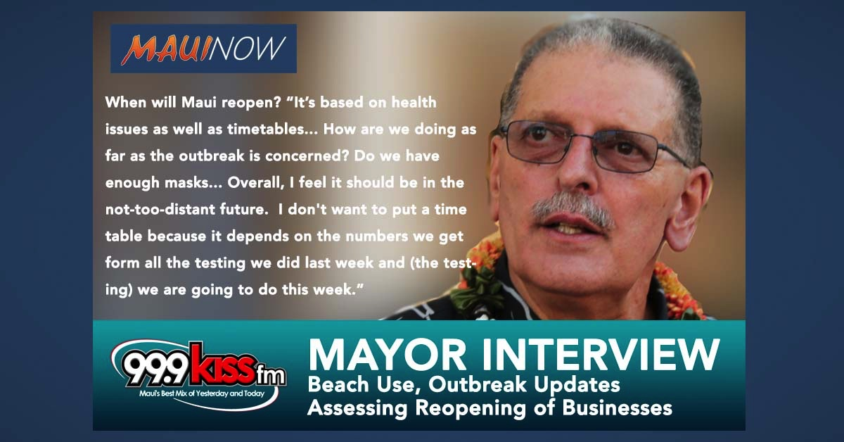 Mayor Interview: When Will Maui Reopen for Business?