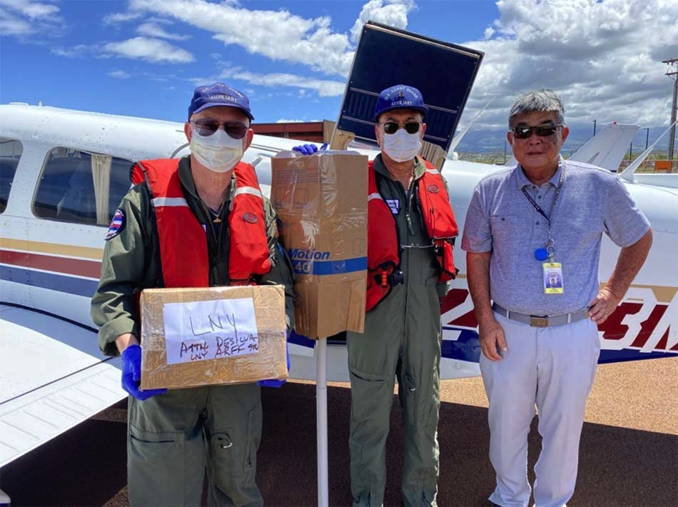 Coast Guard Aircrew Delivers Supplies from Maui to Lāna'i
