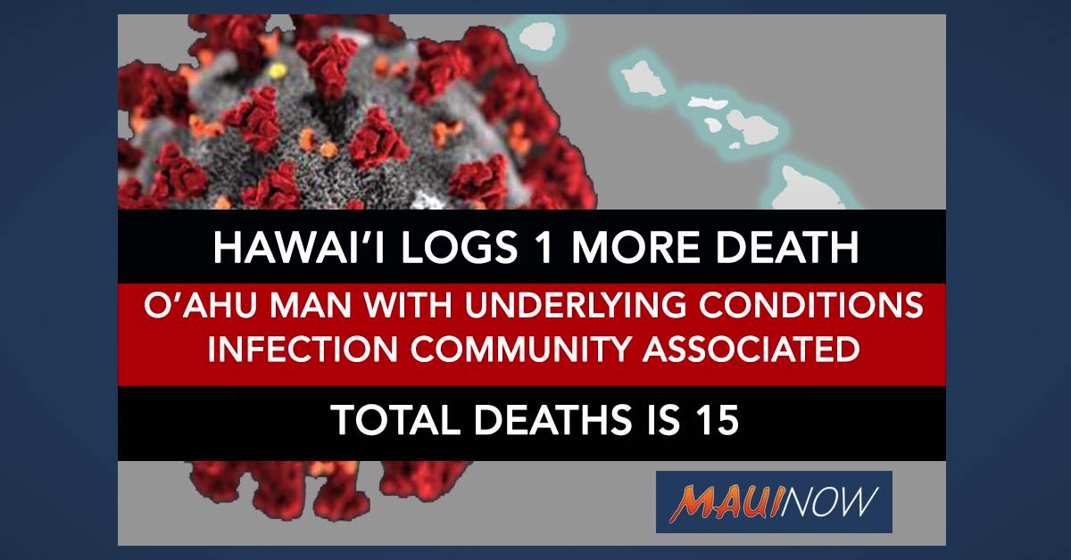Hawai'i Reports 15th COVID-19 Death