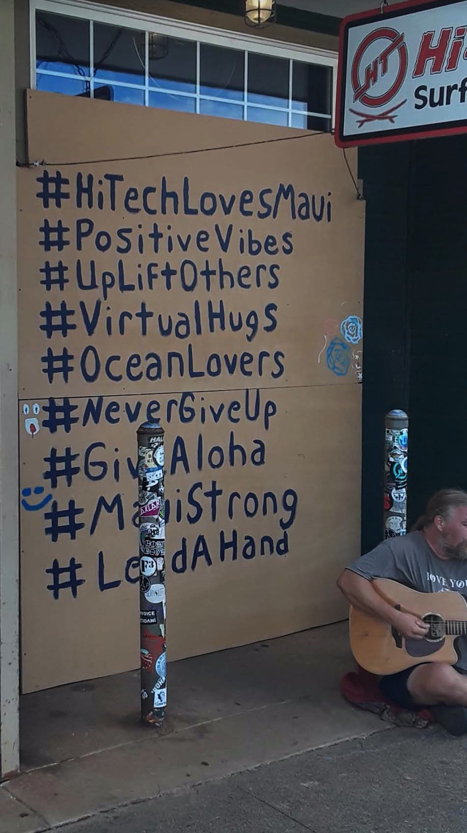 PHOTOS: Boarded Up Windows on Maui Offer Messages of Hope