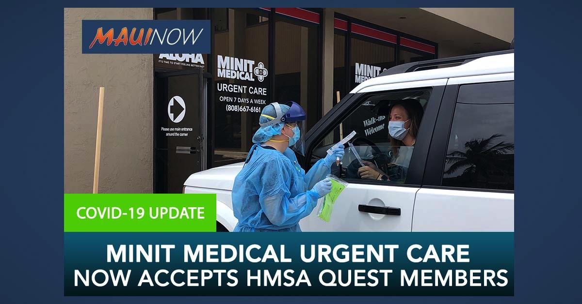 Minit Medical Urgent Care Now Accepts HMSA Quest Members