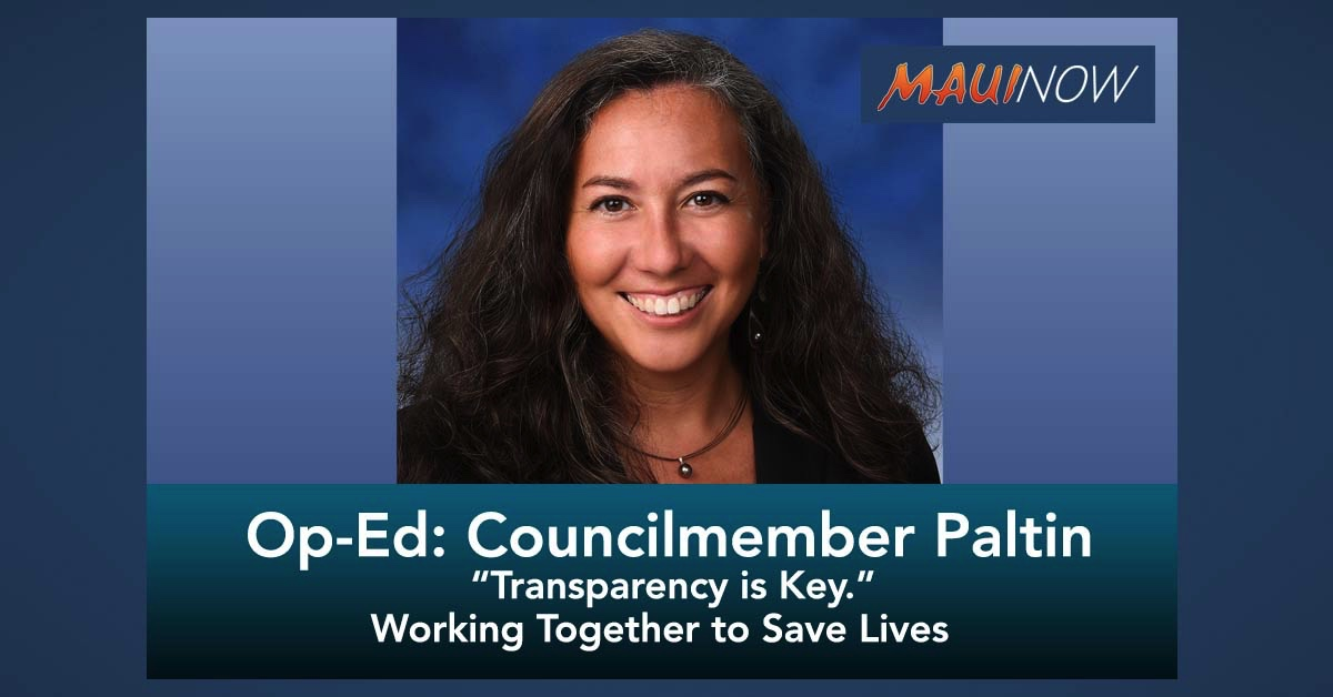 Op-Ed: Councilmember Tamara Paltin Calls for More Transparency Amid Covid-19