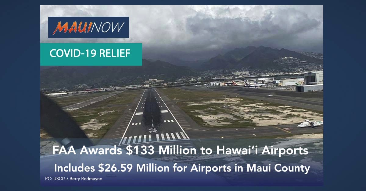 FAA Awards $133 Million to Hawai'i Airports in Response to COVID-19