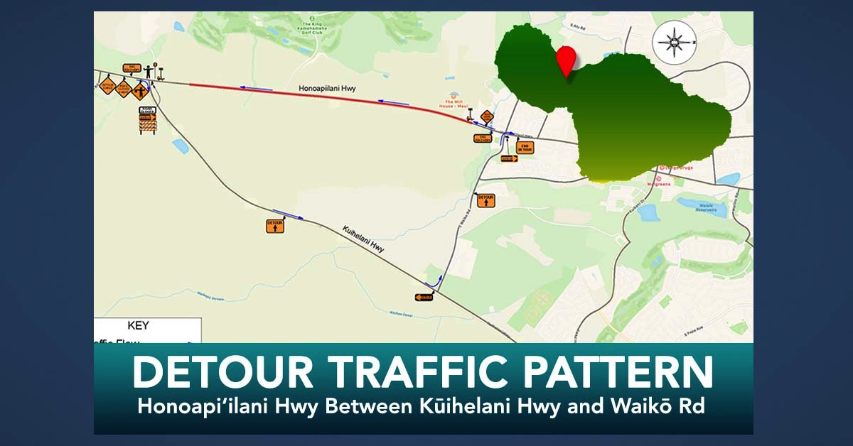 Traffic Pattern: Honoapi'ilani Hwy Between Kūihelani Hwy and Waikō Rd