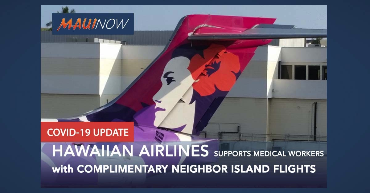 Hawaiian Airlines to Support Medical Workers with Complimentary Neighbor Island Flights