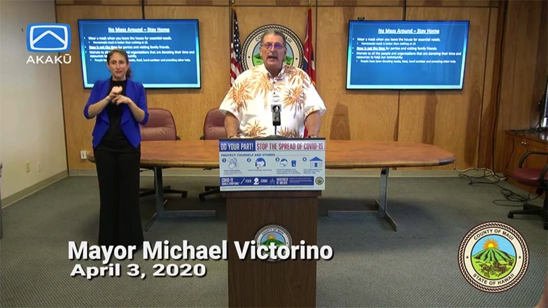 LIVE STREAM: Maui Mayor Michael Victorino COVID-19 Update, April 3, 2020