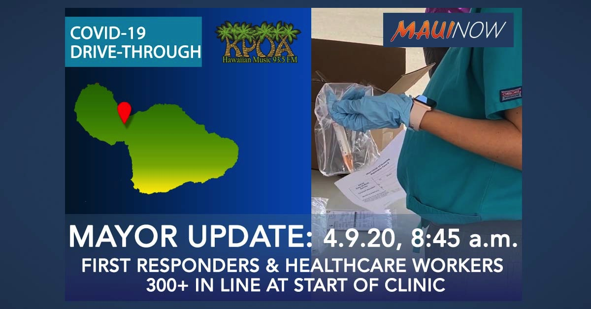 300+ in Line at Start of Kahului Drive Through Clinic on Maui