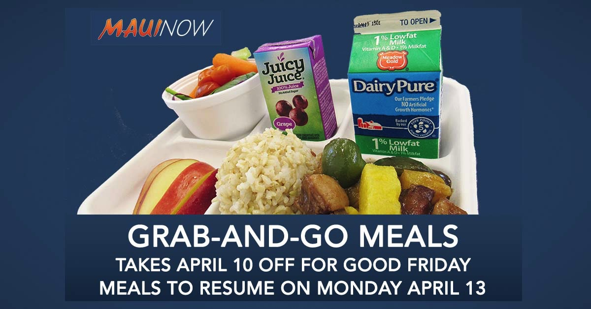 Grab-and-Go School Meal Service Off On Good Friday Holiday, April 10
