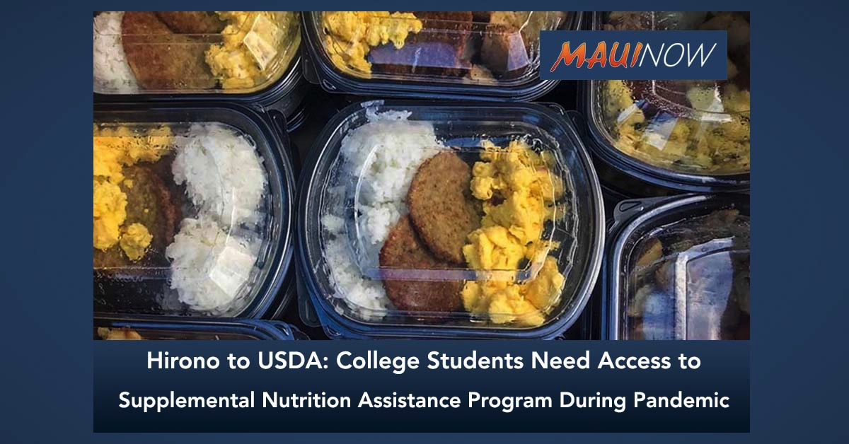 Hirono to USDA: College Students Need Access to SNAP During Pandemic