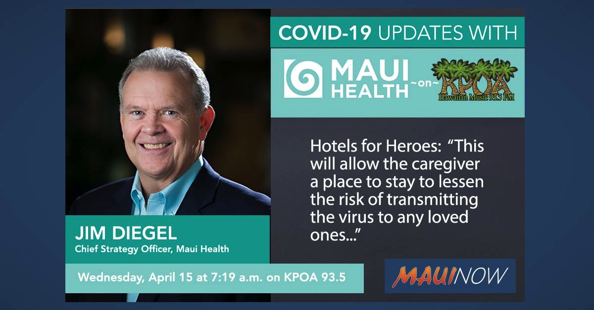 Maui Health COVID-19 Update: Testing, Hotels for Heroes, Volunteer Work