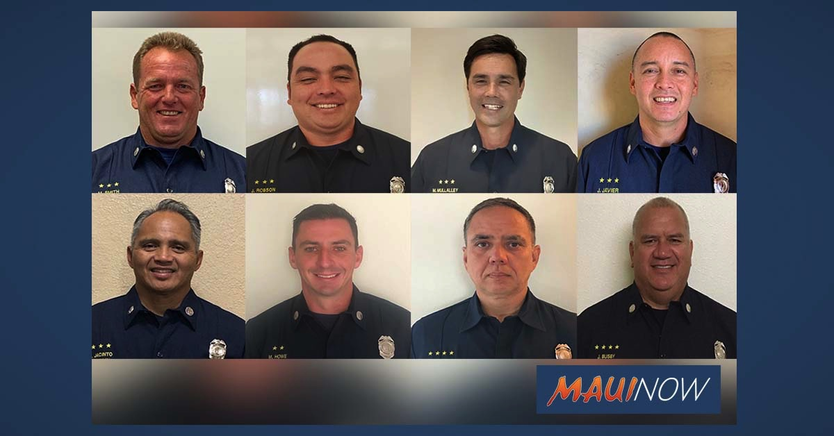 Maui Fire Department Promotes Eight Members