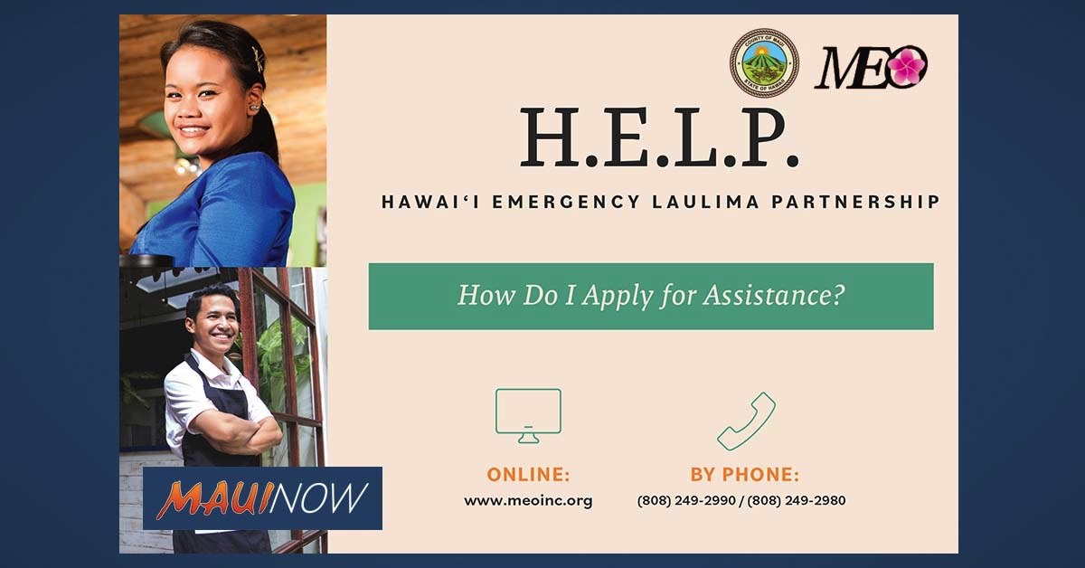 "Hawaii Emergency Laulima Partnership ""H.E.L.P."" Program Now Accepting Applications"