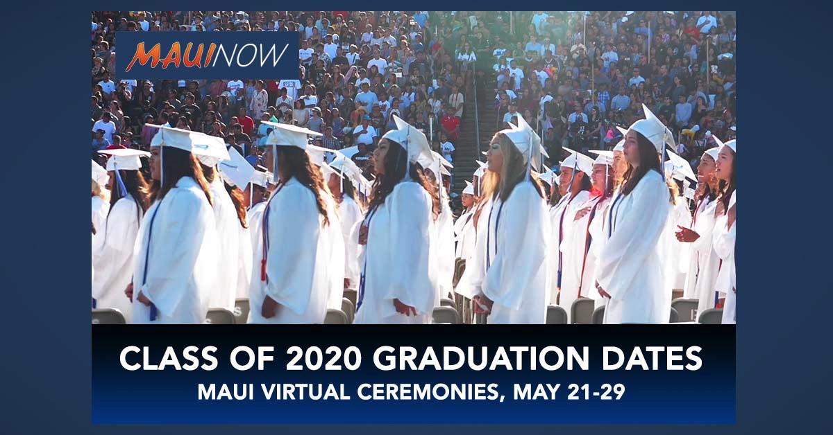 Maui Public Schools Unveil Plans for Class of 2020 Graduation Celebrations