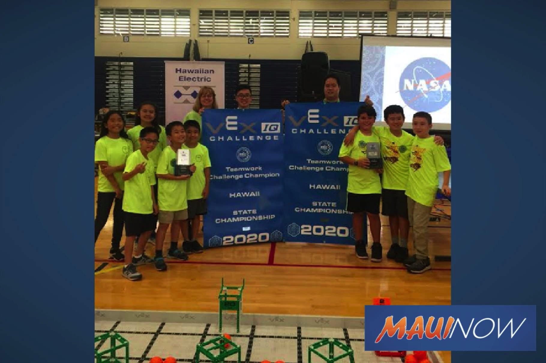 Zooming with the Pukalani Elementary STEM Imagineers Robotics Virtual Showcase