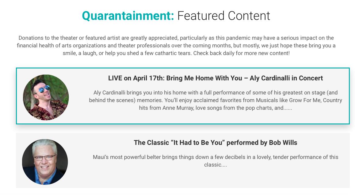 ProArts Launches 'Quarantainment'