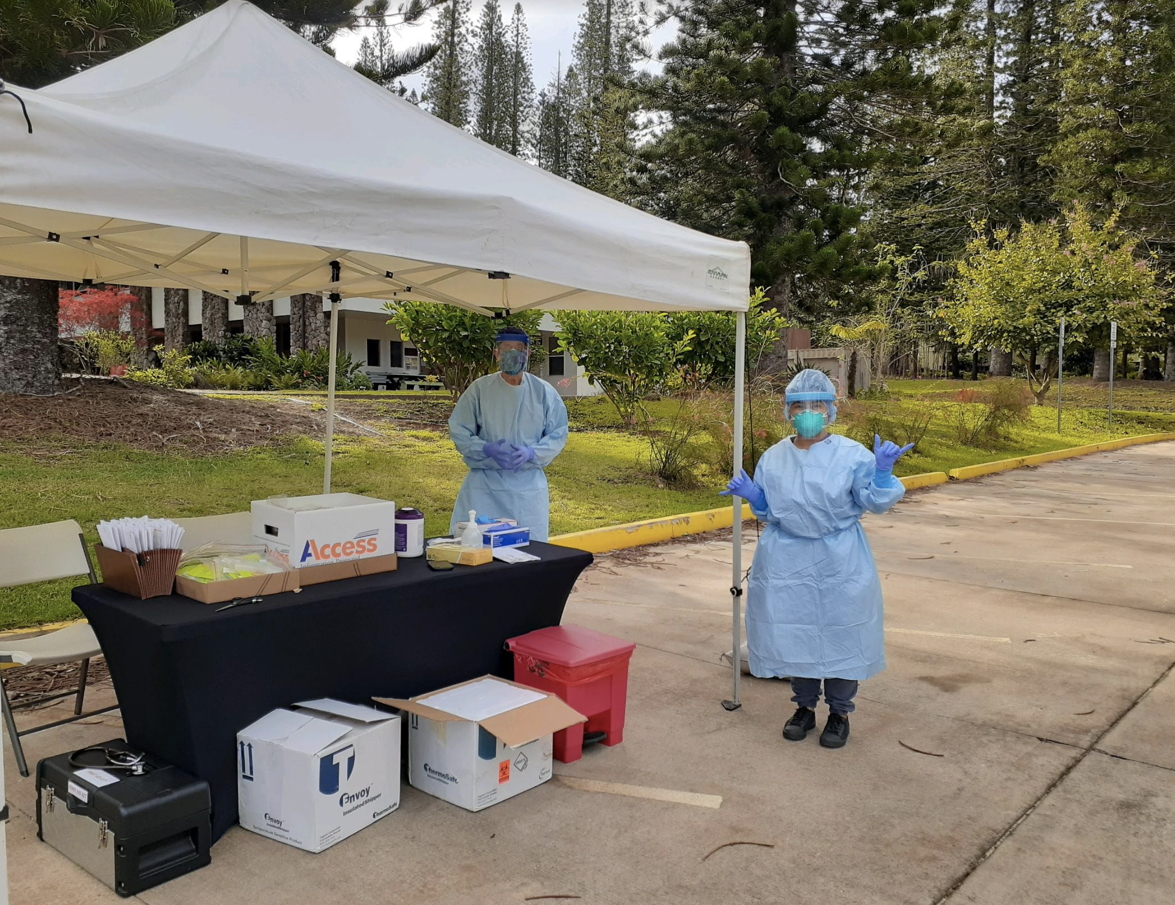 100 People Tested During COVID-19 Drive-Through on Lāna'i