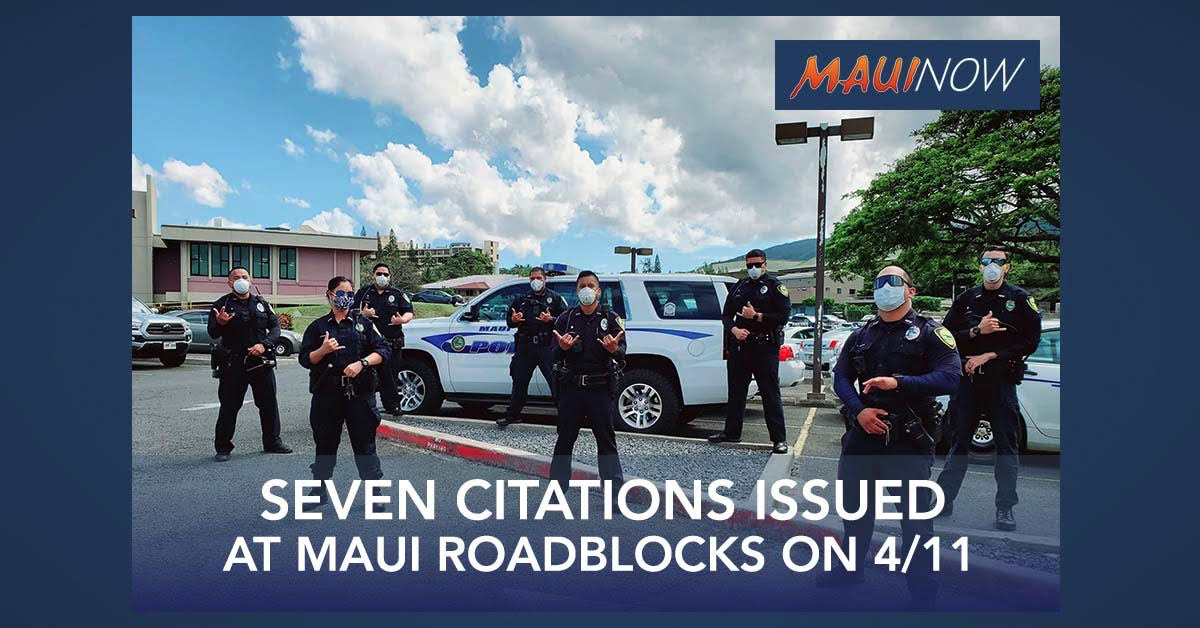 7 Citations Issued at Maui Roadblocks
