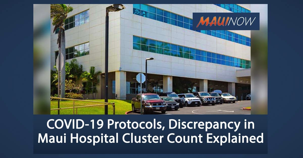 COVID-19 Protocols, Discrepancy in Maui Hospital Cluster Count Explained