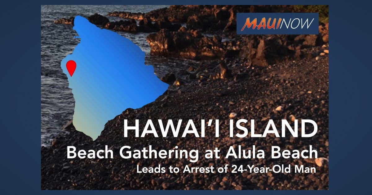 Beach Gathering on Hawai'i Island Leads to Arrest of 24-Year-Old Man