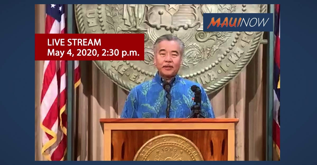Live Stream: Governor David Ige's COVID-19 Update, May 5, 2020
