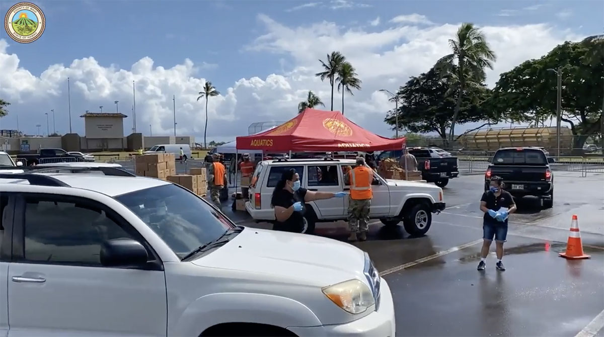 Food Distribution in Central Maui, Thursday, May 14