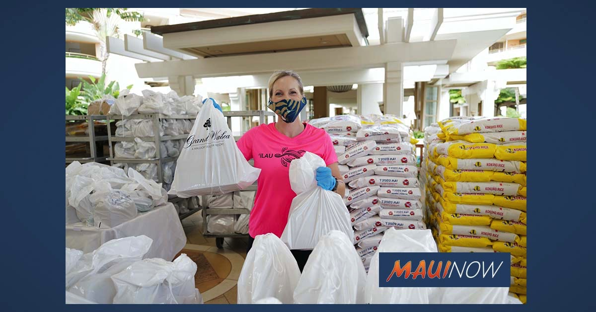 Grand Wailea Gifts 800 Team Members with Groceries for Mother's Day