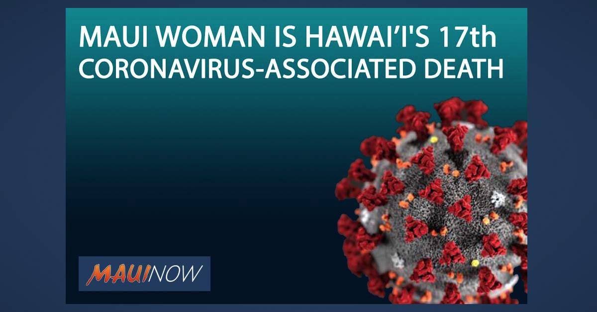Maui Woman is Hawaii's 17th Coronavirus-Associated Death
