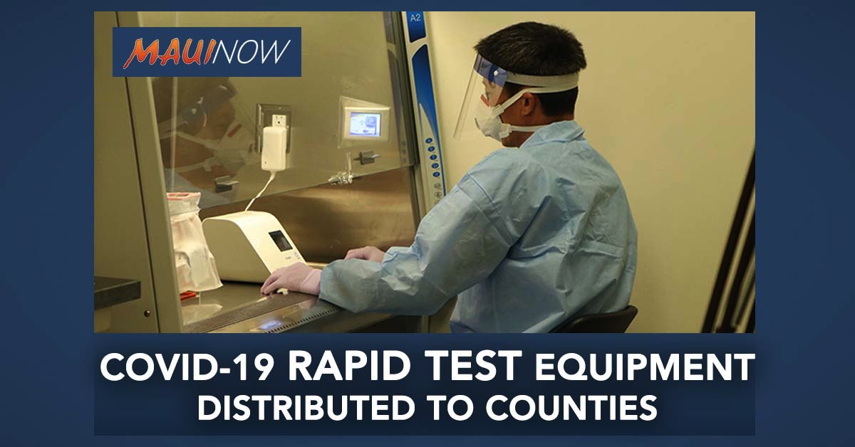 COVID-19 Rapid Test Supplies Distributed to Counties