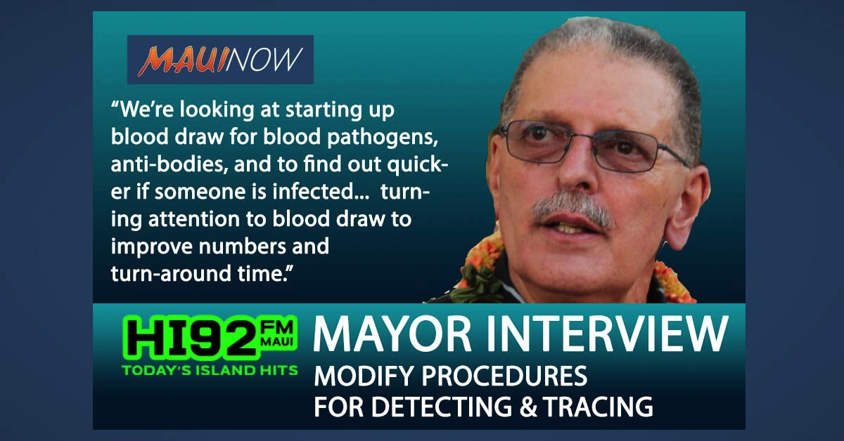 Mayor Victorino Interview: Modifications to Testing and Tracing