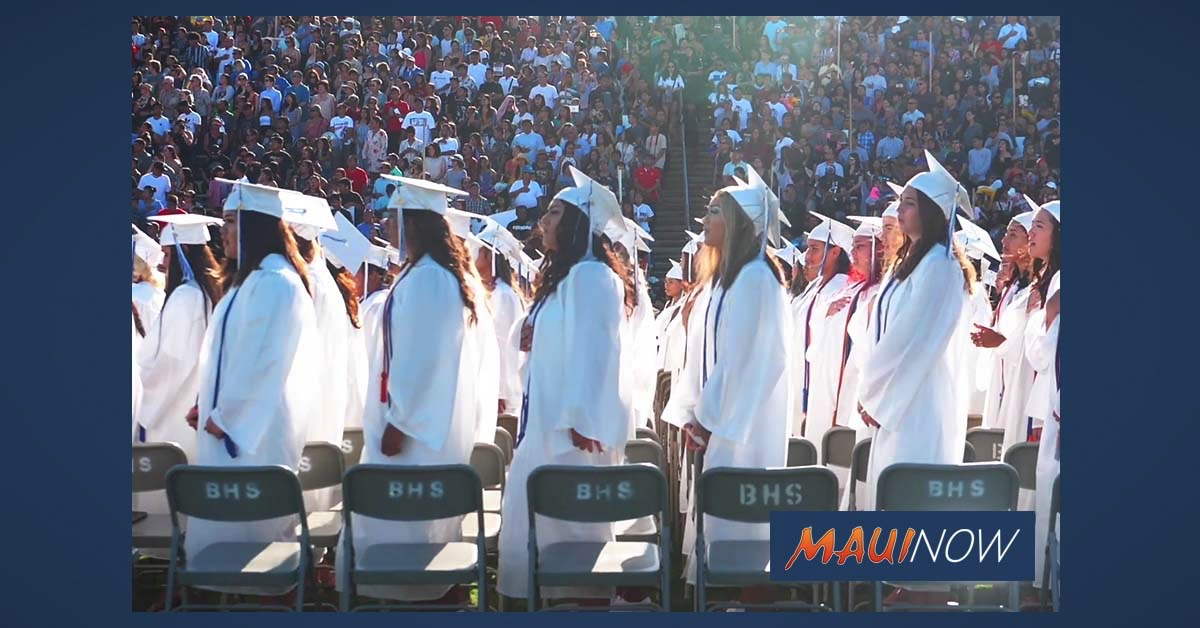 Maui County to Offer $41,700 in Project Graduation Funding for Maui Public and Private High Schools