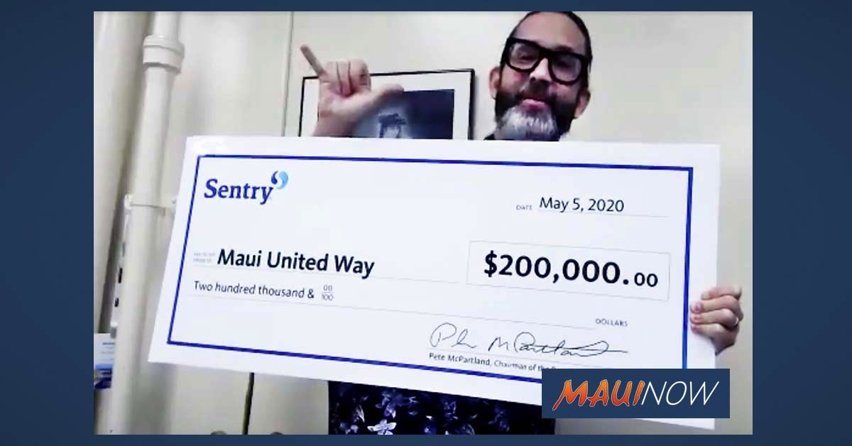 Sentry Insurance Foundation Donates $200,000 to Maui United Way for COVID-19 Relief