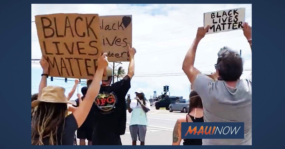 VIDEO: Black Lives Matter Maui Rally Seeks Unity and Peace