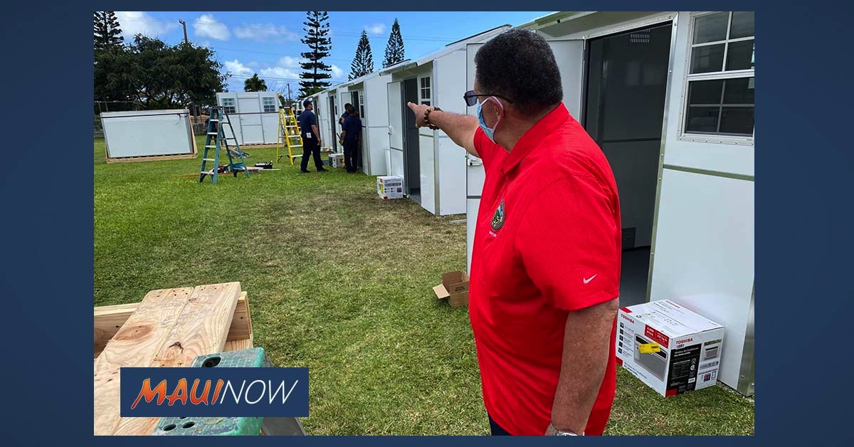 Work Begins on 20 Temporary Emergency Shelters at Waiale Park in Wailuku