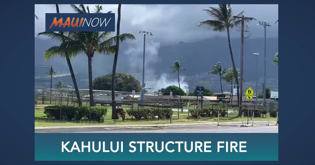 UPDATE: Six People Displaced by Kaulana Street Home Fire in Kahului, Maui