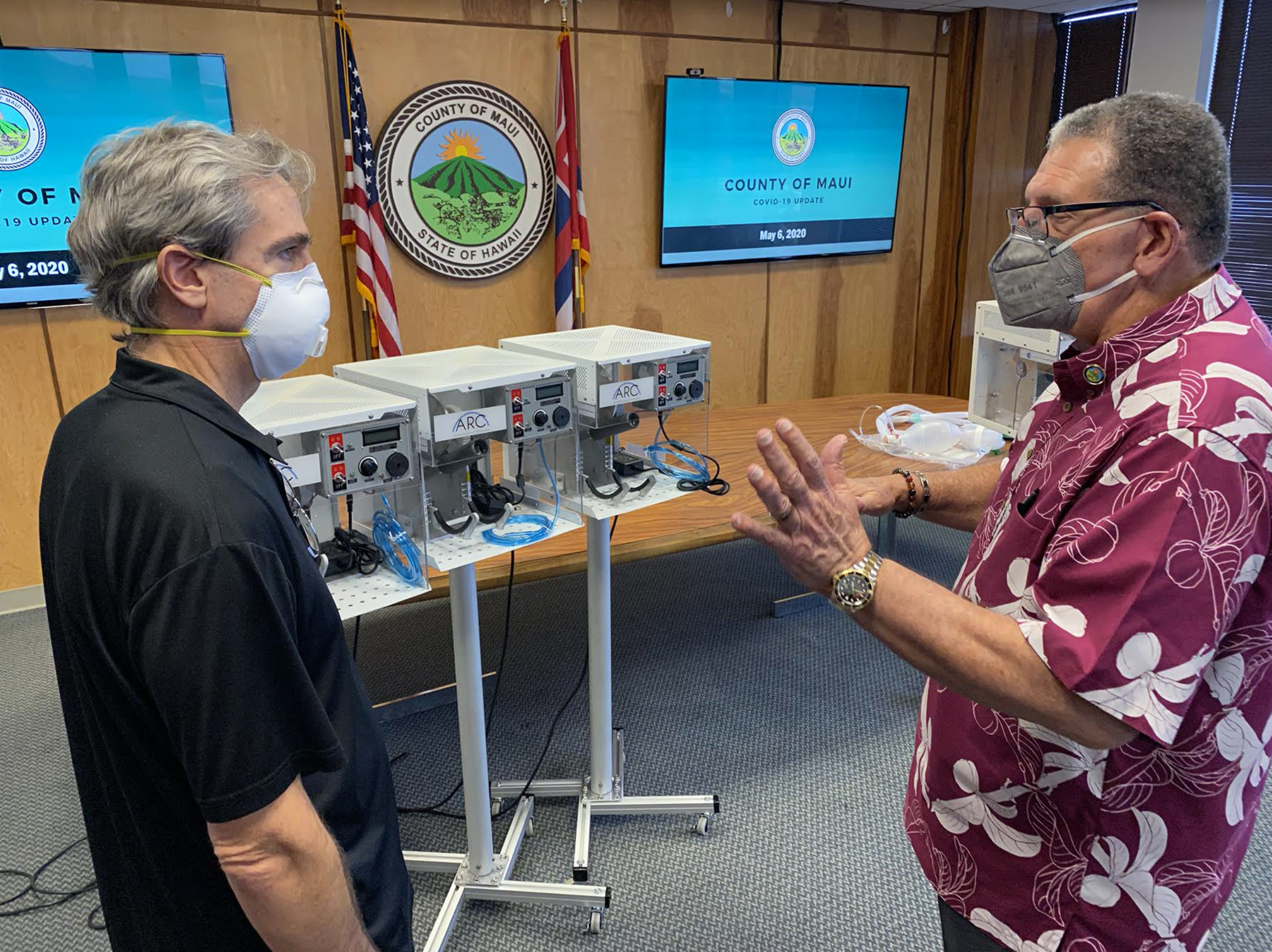 Emergency Ventilators Produced on Maui for COVID-19 Response Unveiled