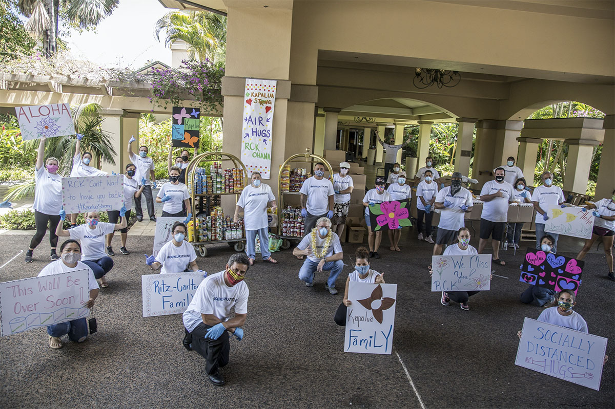 Ritz-Carlton Kapalua Distributes Food to 600 Team Members