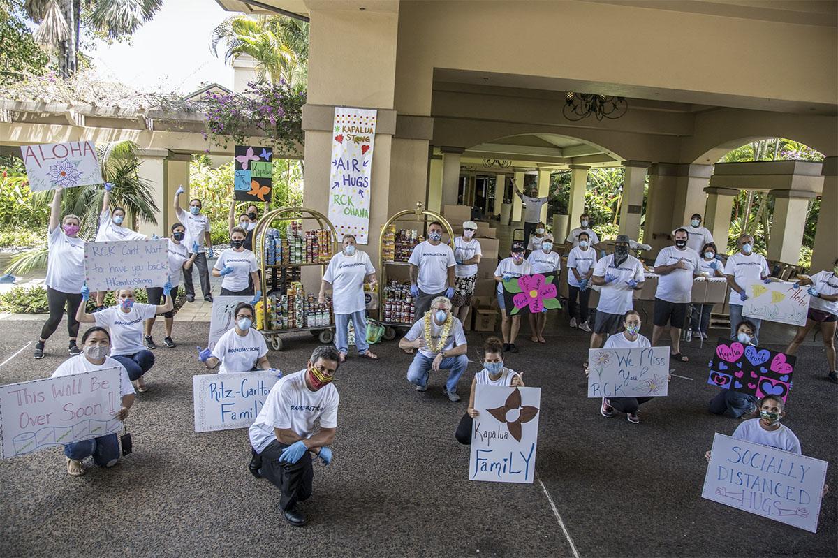 Ritz-Carlton Kapalua Distributes Food to 600 Team Members