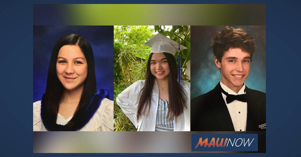 Three Maui County Students Receive Josh and Souk Jerman Foundation Scholarships