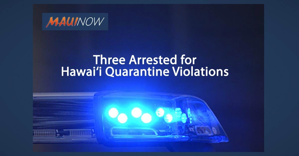 Virginia Woman, South Korea Man and Waikīkī Resident Arrested for Hawai'i Quarantine Violations